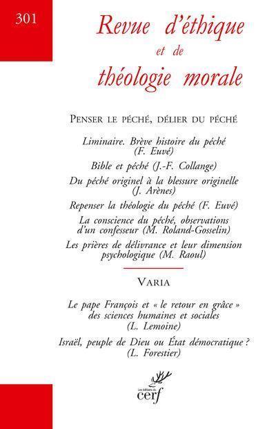 REVUE D'ETHIQUE ET DE THEOLOGIE MORALE NUMERO 301