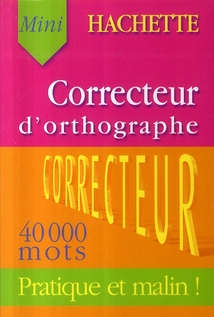 Correcteur d'orthographe ; 40000 mots courants