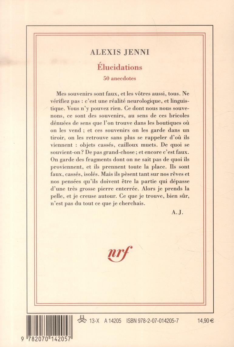 élucidations (50 anecdotes)
