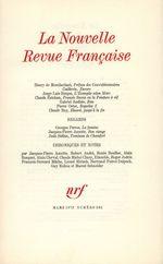 La Nouvelle Revue Française N° 231