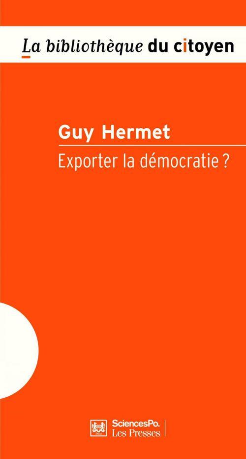 Exporter la démocratie ?