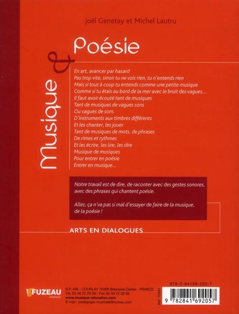 Musique et poesie - arts en dialogue