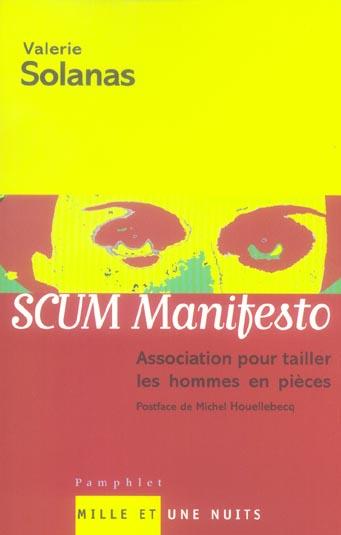 scum manifesto -  association pour tailler les hommes en pieces