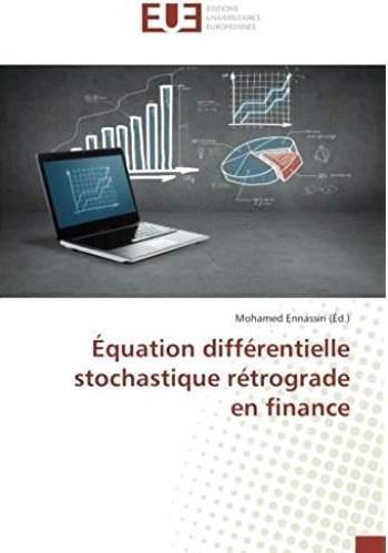 équation différentielle stochastique rétrograde en finance
