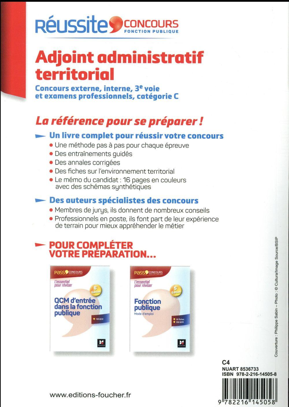 réussite concours t.14 ; adjoint administratif territorial (édition 2017/2018)