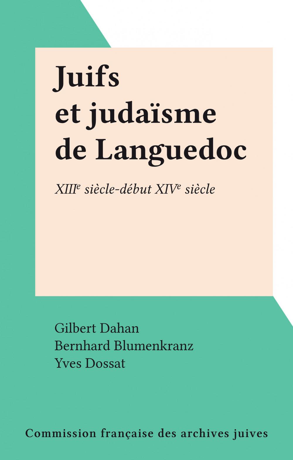 Juifs et judaïsme de Languedoc