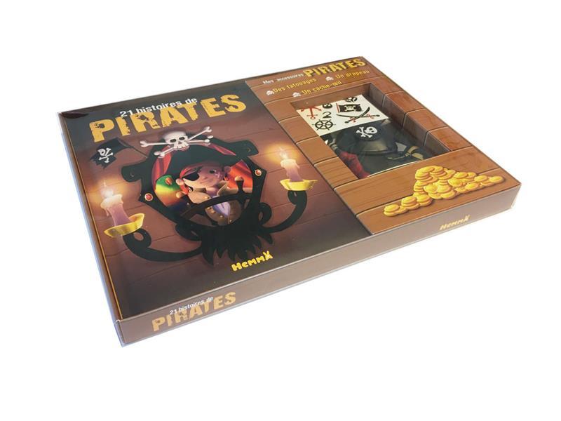 21 histoires de pirates ; fond bois