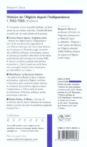 Histoire de l'Algérie depuis l'indépendance t.1 (4e édition)