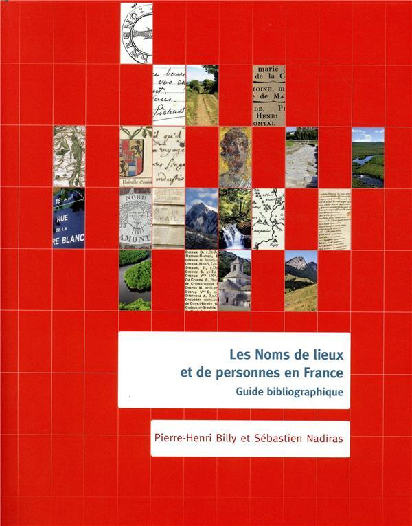 noms de lieux et de personnes de France ; guide bibliographique