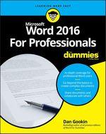Vente Livre Numérique : Word 2016 For Professionals For Dummies  - Dan Gookin