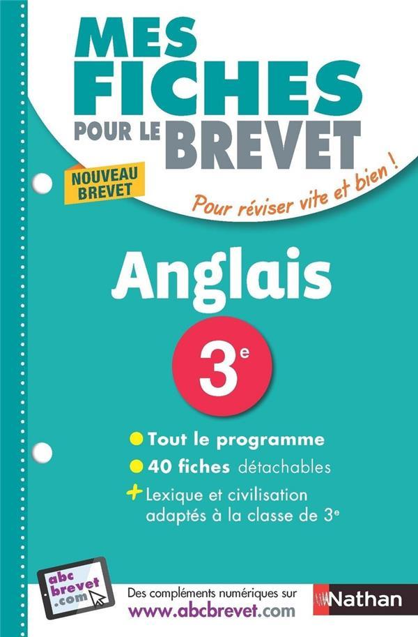 MES FICHES ABC DU BREVET T.34 ; anglais ; 3e