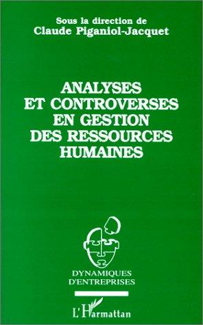 Analyses et controverses en gestion des ressources humaines