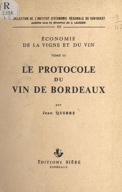 Économie de la vigne et du vin (3)