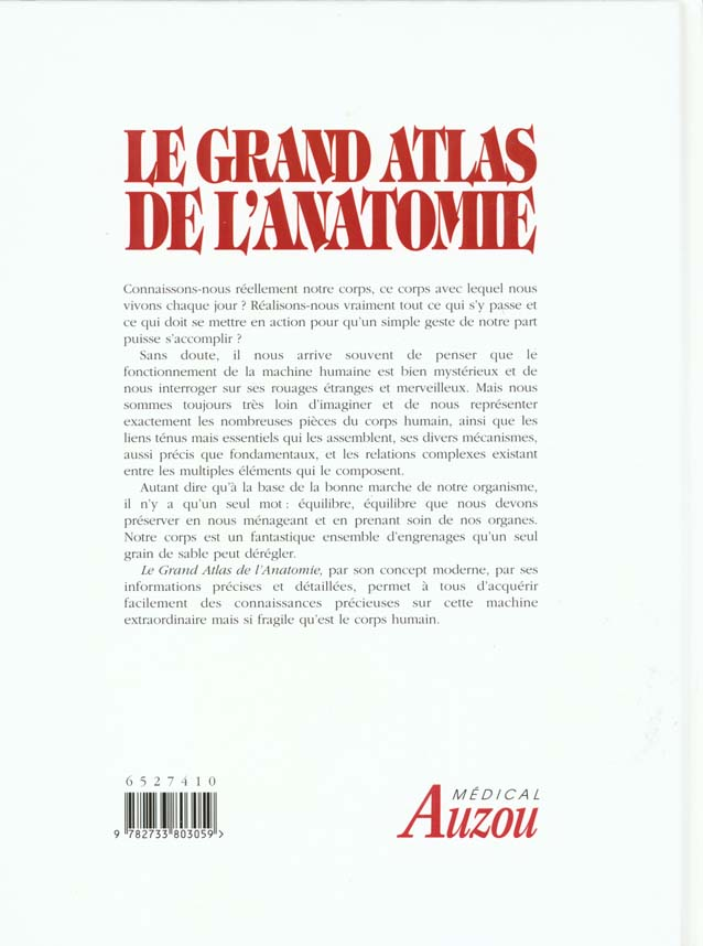 Le grand atlas de l'anatomie