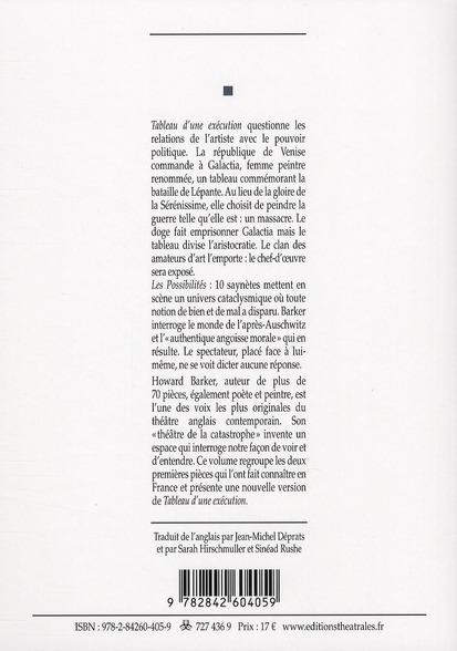 Oeuvres choisies t.1 ; tableau d'une exécution ; les possibilités (édition 2010)
