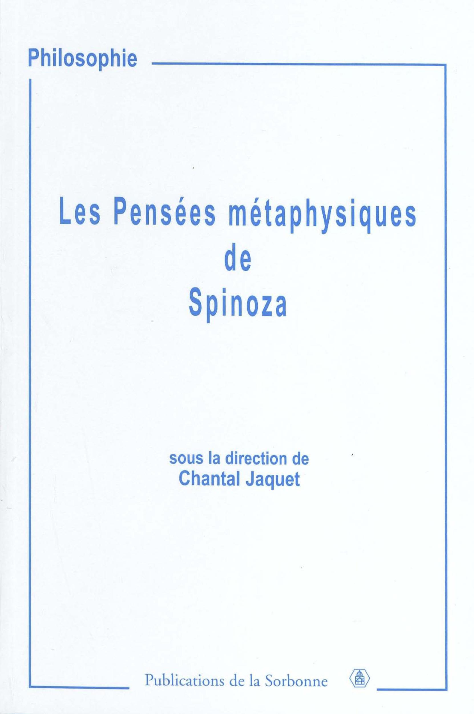 Les pensées métaphysiques de spinoza