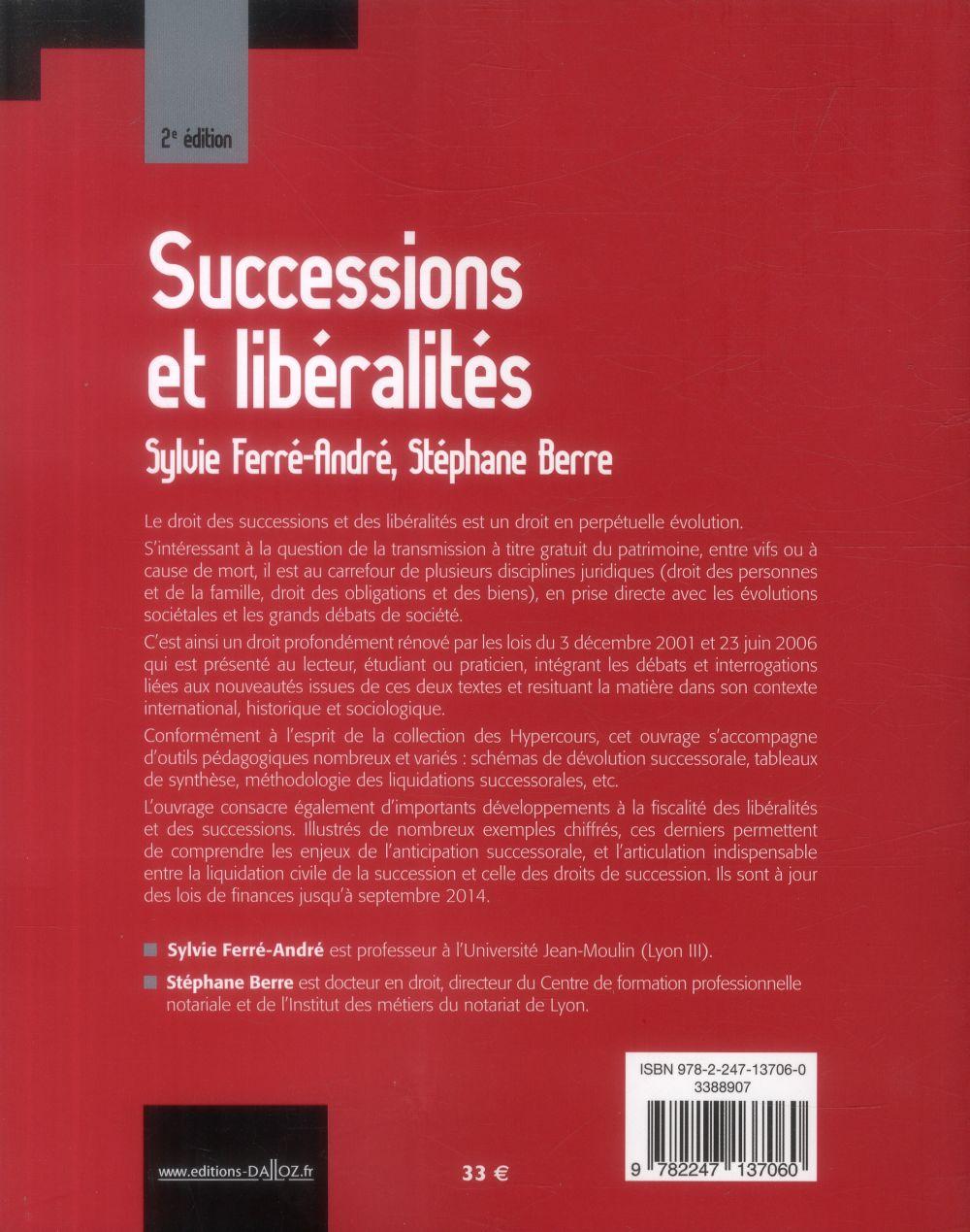 Successions et libéralités (2e édition)
