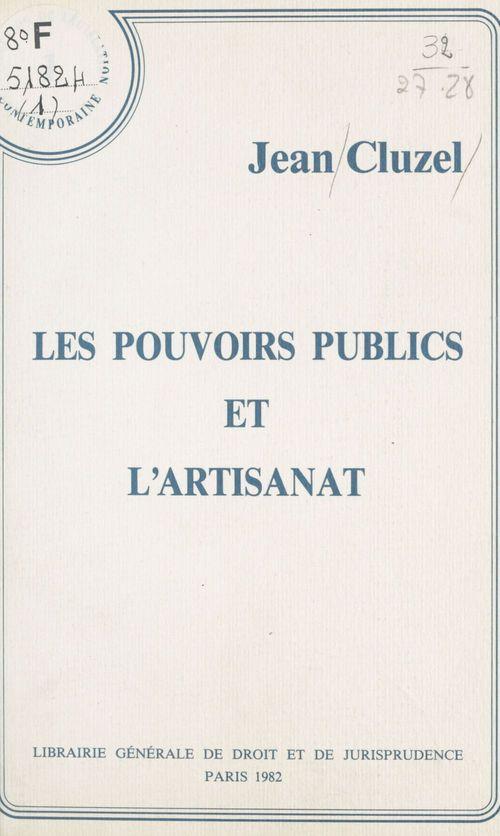 Pouvoirs publics artisanat