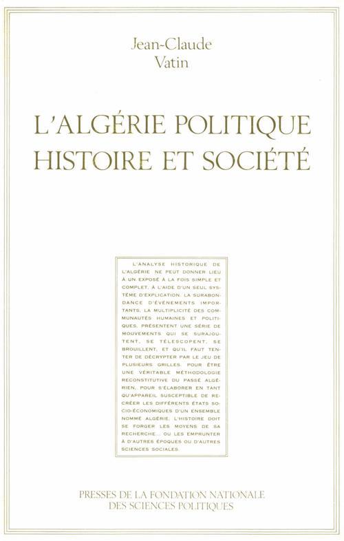 L'Algérie politique, histoire et societé