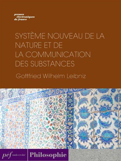 Système nouveau de la nature et de la communication des substances