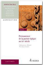 Vente Livre Numérique : Permanence de la poésie épique au XXe siècle  - Juliette Vion-Dury