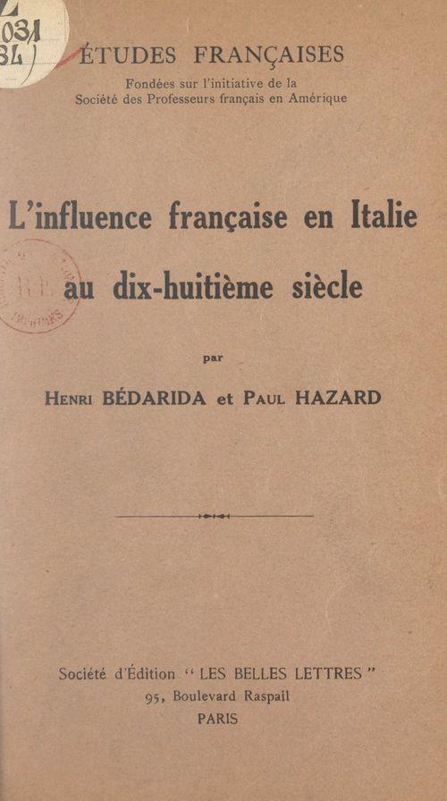 L'influence française en Italie au dix-huitième siècle