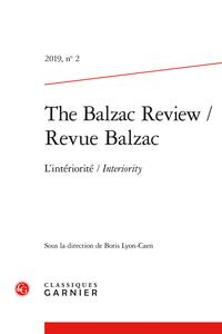 Revue Balzac T.2 ; 2019 ; l'intériorité ; interiority