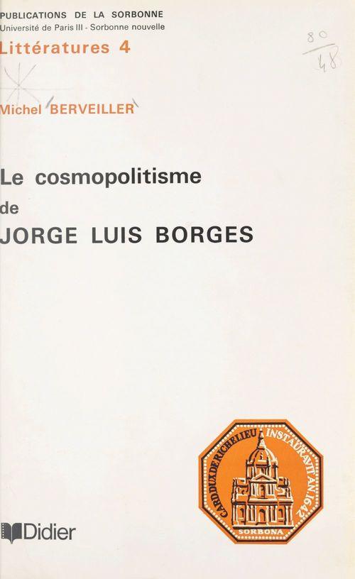 Le cosmopolitisme de Jorge Luis Borges