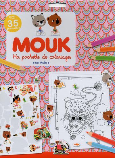 Ma pochette de coloriages ; Mouk en Asie