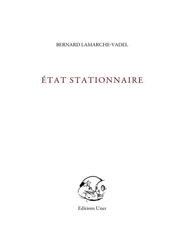 état stationnaire