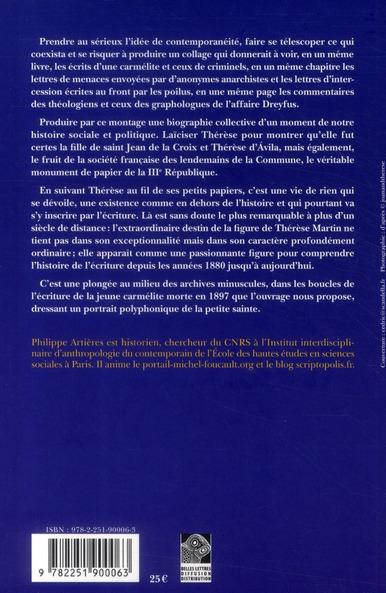 La vie écrite ; Thérèse de Lisieux