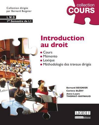 Introduction au droit (4e édition)