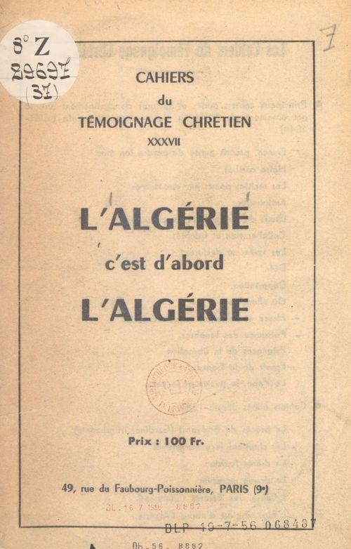 L'Algérie, c'est d'abord l'Algérie