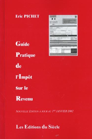 Guide de l'impot sur le revenu ; edition 2002