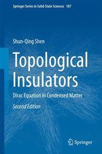 Topological Insulators  - Shun-Qing Shen