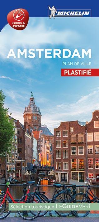 AMSTERDAM - PLAN DE VILLE PLASTIFIE