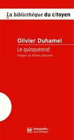 Vente EBooks : Le quinquennat  - Olivier Duhamel