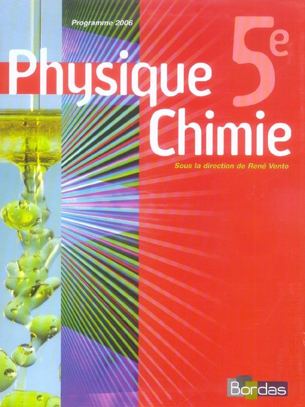 Physique Chimie 5e 2006 Manuel