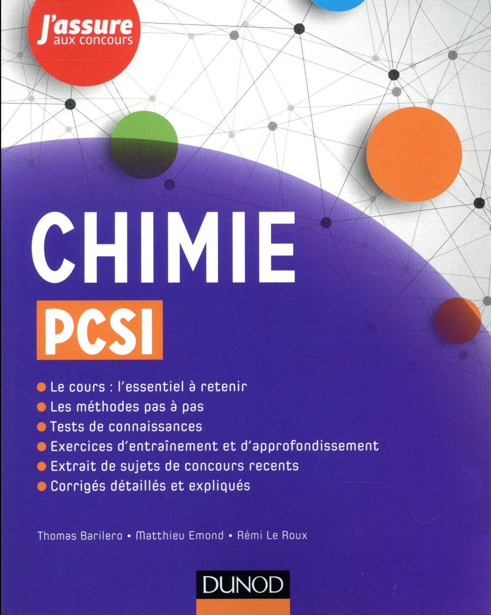 Chimie ; PCSI