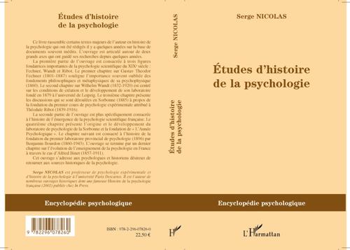 études d'histoire de la psychologie