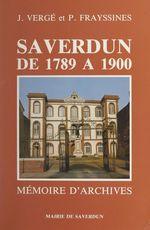 Saverdun de 1789 à 1900