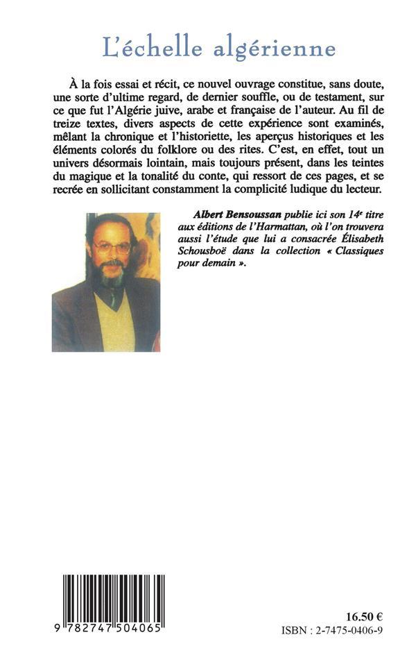 echelle algerienne (l')  voies juives