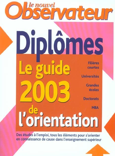 Nouveau guide de l'orientation 2003
