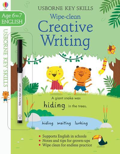 wipe-clean ; key skills wipe-clean ; creative writing ; age to 6/7