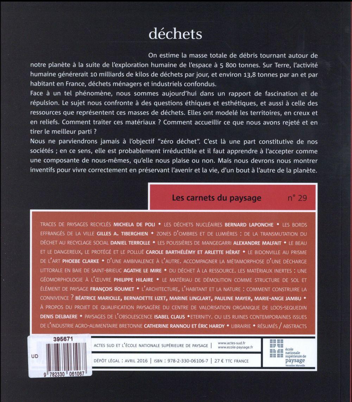 LES CARNETS DU PAYSAGE n.29 ; déchets