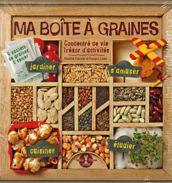 Ma boîte à graines ; concentré de vie, trésor d'activités ; coffret