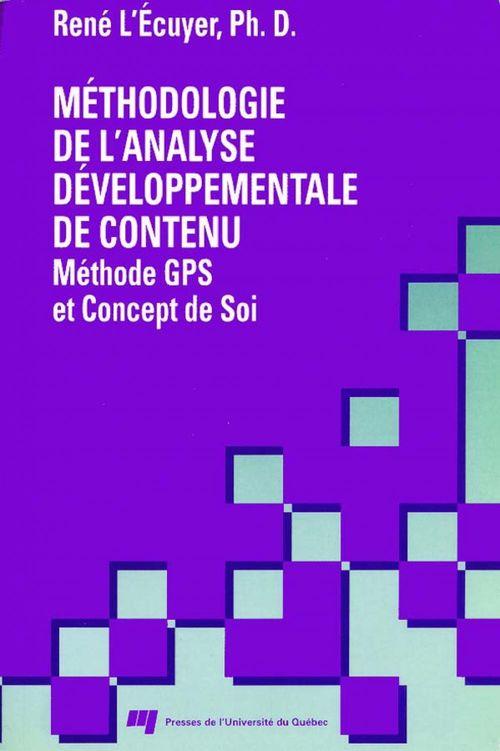 Méthodologie de l'analyse développementale de contenu ; méthode GPS et concept de soi