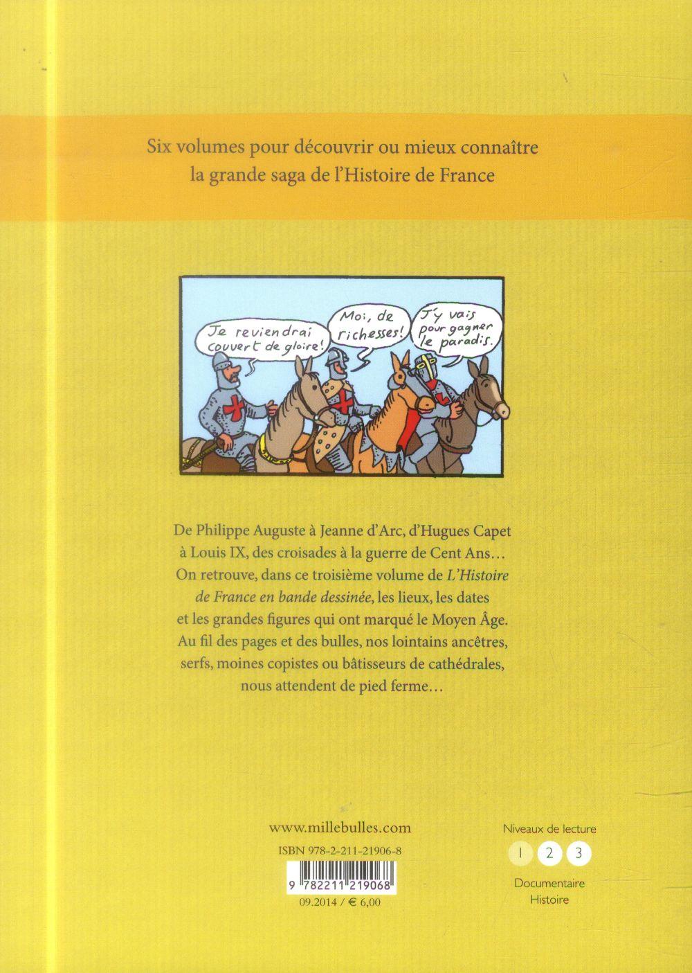 L'Histoire de France en BD ; le Moyen Âge
