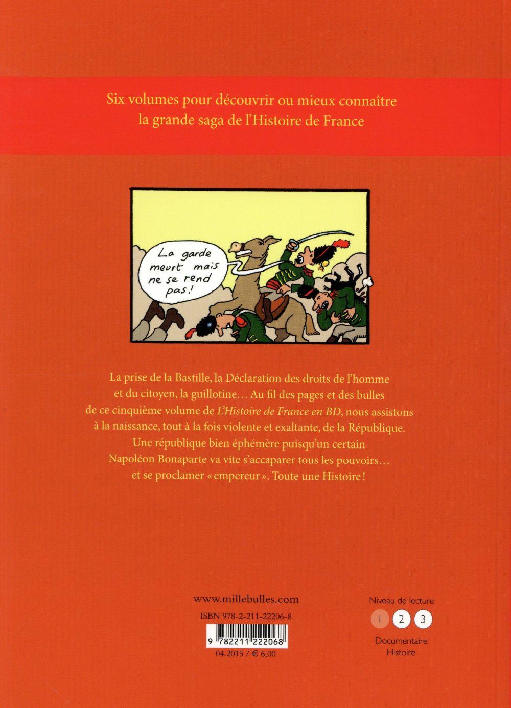 l'Histoire de France en BD ; la révolution et l'Empire