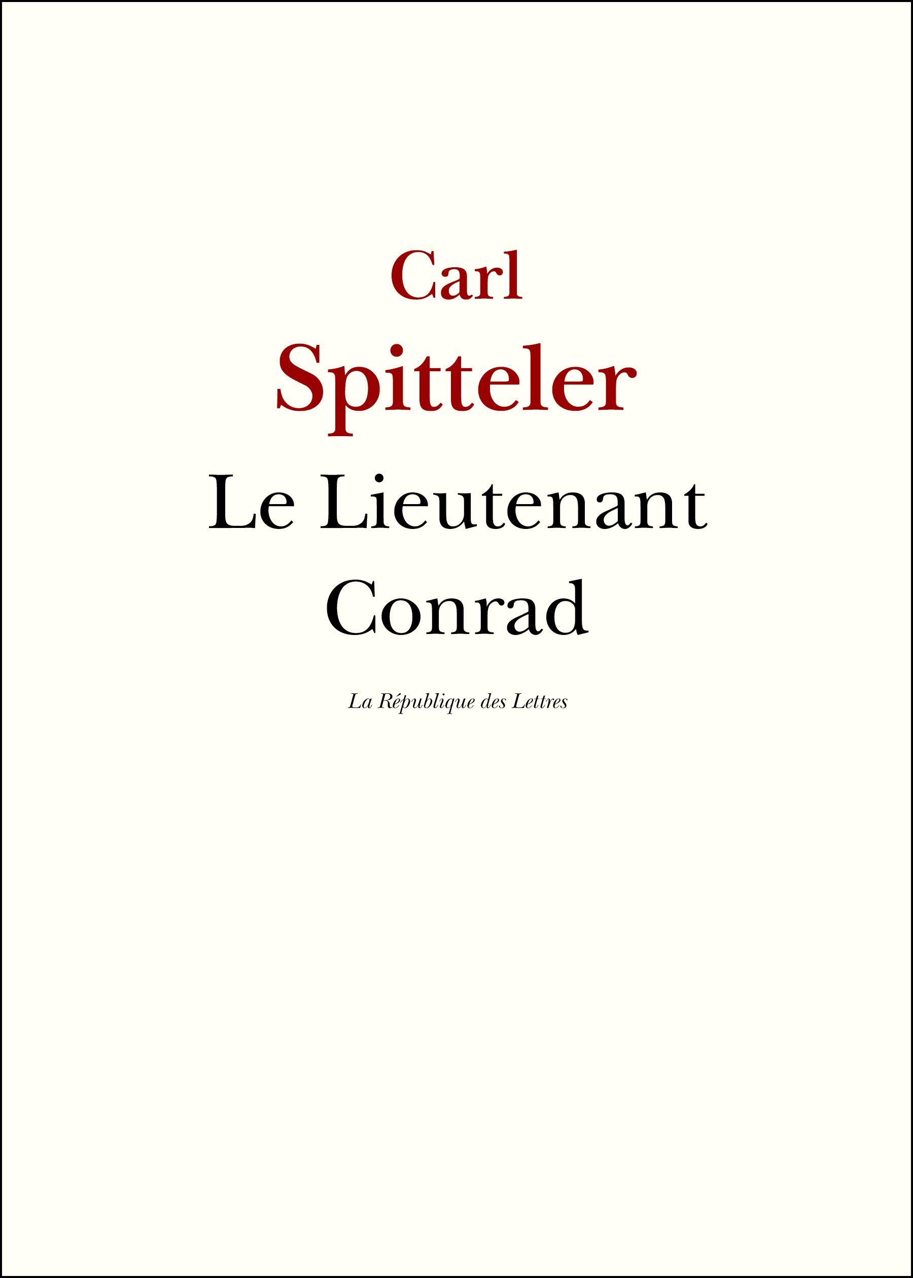 Le Lieutenant Conrad